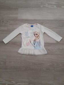 Girls Disney Frozen Elsa Long Sleeve Top Age 2-3 Years