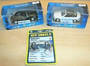 BMW 325i Cabrio x2 by Metallic Team Tins Toys & BMW Z4 by Welly