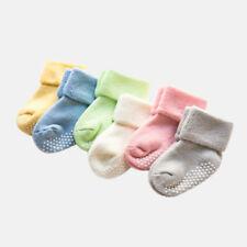 Paire Tout-petits Nouveau Né Garçon Fille Bébé Anti-dérapant Chaussettes Souple