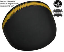 BLACK & YELLOW STRIPE LEATHER DASH COWL HOOD COVER FITS MG MGF MG TF 95-05