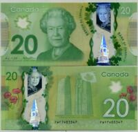 CANADA 20 DOLLARS 2012 / 2015 POLYMER P 108 SIGN WILKINS & POLOZ UNC