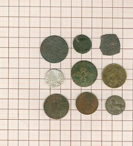Set To Studying! 9 Pièces-jetons-médailles, Billon + Bronze Ancient Shutters All