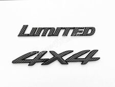 Limited 4 X 4 Carbon Fiber Style Emblem decal For Toyota 4Runner Jeep Cherokee