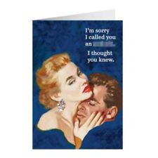 """Retro Humour """"Sorry I Called You An A******"""" Greetings Card Birthday Gift Funny"""