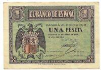 1 Peseta 30 de Abril 1938  Burgos  @ Muy Bello @