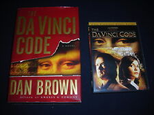 The DA VINCI CODE Dan Brown 1st Edition/First Printing 2003 HC/DJ & DVD Movie WS