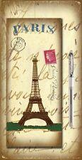 Magnetic Memo Pad  Pencil Fridge Magnet Kitchen Shopping List Paris EiffelTower