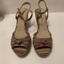 Womens Montego Bay Wedge Sandals Multi-color Size 13 New.