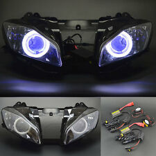 Demon Blue Angel Eye Headlight Assembly Projector Lamp for Yamaha YZF R6 08-15
