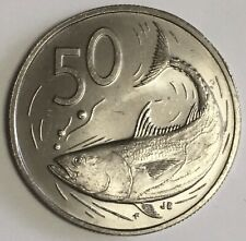 1976 FM(M) Cook Islands 50 Cent Coin Rare Matte Finish ~ Only 1001 Minted