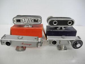 Four Hot Shoe Camera Rangefinders Working
