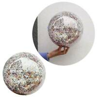 16inch Inflatable Beach Ball Clear Sequin Party Swimming Pool Balls for Children