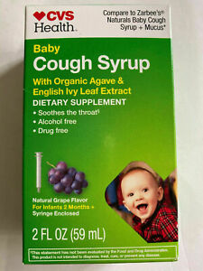 CVS Health Baby Cough Syrup with ORganic Agave English Ivy EXP 1/22+