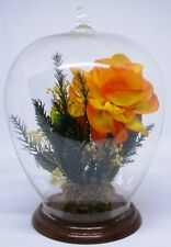 Glass Globe Flower Decor