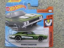 Hot Wheels 2018 # 092/365 1969 Dodge Charger 500 VERDE Muscle Mania