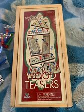 Cardinal's Wood Timeless Classic Wood Teasers Games Collection Wooden Puzzles