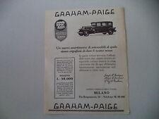 advertising Pubblicità 1928 GRAHAM PAIGE