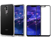 For Huawei Mate 20 Lite Case Clear Gel 360 & Full Glass Screen Protector