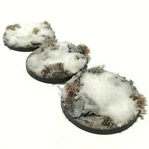 Snow Pre-painted Scenic Wargame Bases (various sizes)