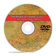 Ireland Vol 1, People Cities Family Tree History Genealogy 134 Books DVD CD B40