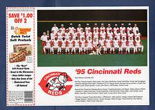 1995 CINCINNATI REDS Team Picture / Bakers Best Snack Food Corp. regional issue