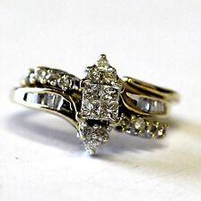 14k yellow gold .55ct princess diamond engagement ring wrap guard 5.4g womens