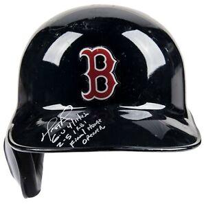 David Ortiz Signed Game Used Red Sox Helmet From Final Home Opener JSA & MLB COA