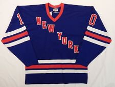 VINTAGE 1990'S CCM MASKA New York Rangers #10 stitched HOCKEY JERSEY ADULT SZ XL