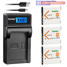 Kastar Battery LCD Charger for Sony NP-BN1 BC-CSN & Sony Cyber-shot DSC-W630