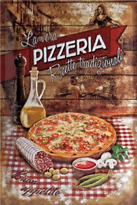 Metal Tin Sign pizzeria   Pub Home Vintage Retro Poster Cafe ART