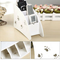 Wooden lovely Air Conditioner TV Remote Control Holder Storage Case Box White