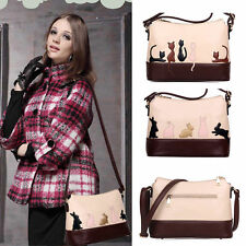 Women Faux Leather Handbag Cat Rabbit Shoulder Bag Hobo Crossbody Messenger Tote