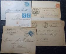 5x FRANCE philately - LOT Early Cover