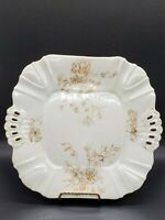 Antique Leonard VIENNA Austria Porcelain Reticulated Gold Flowers and trim