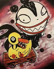 Vampire Teddy And Duck Toy nightmare before christmas movie decor wall art print