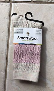 NWT SmartWool Women's Color Block Cable Crew Pink Nectar Sz Medium