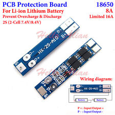 BMS Protection PCB Board 18650 Li-ion Lithium Battery Charger 2S 8A 7.4V 8.4V
