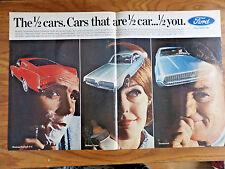1967 Ford Ad 1/2 Cars Mustang 2+2  Cougar Thunderbird