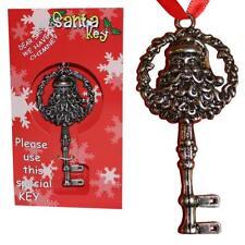 Noël magique 9CM cuivre LOOK Métal Clef pour Père Noël
