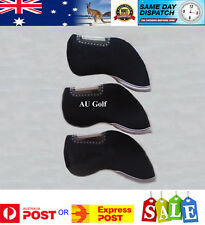 Head Covers for all Irons  - Pack of 10 - Black with Clear Window for Easy ID