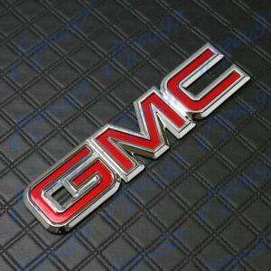 New Rear Liftgate Red Emblem Badge For GMC Sierra Yukon Canyon C1500 C2500 C3500