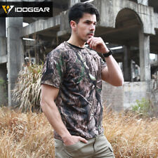 IDOGEAR Camo Shirt Army Tactical Top Anti-UV Perspiration Outdoor Sports Hunting
