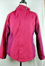 Burton Pink Women's Snowboard Jacket M Medium Waterproof Zip Pockets Hood