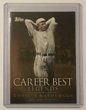 2009 Topps Legends of the Game Christy Mathewson LGCB-CZM Baseball Card.