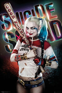 Poster Suicide Squad Harley Quinn Good Night Margot Robbie DC Comics