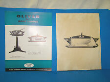 Oliver Model No. 9 Wood Trimmer - Vintage Brochure & 2 Photo