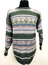 Antartex Sweater Shetland Wool Men's Large Crewneck Fairisle Nordic Ski Jumper