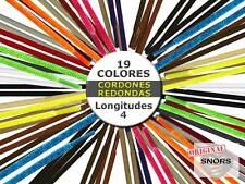 CORDONES ZAPATILLAS de COLORES REDONDO - 19 Colores - 4 Longitudes