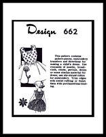 Pattern Dress Frock BABY GIRL Toddler Child Design Mail Order #662 sz ~4~ Flower