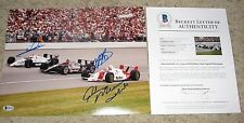 MARIO ANDRETTI A.J. FOYT RICK MEARS INDY 500 WINNERS SIGNED11x14 PHOTO beckett
